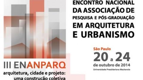 Encontro da Associação Nacional de Pesquisa e Pós-Graduação em Arquitetura e Urbanismo