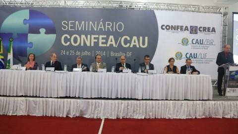Seminário CONFEA/CAU estabelece interesse público como prioridade para os debates