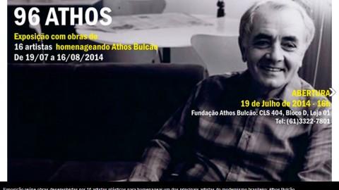 """Exposição """"96 Athos"""" homenageia Athos Bulcão em Brasília"""