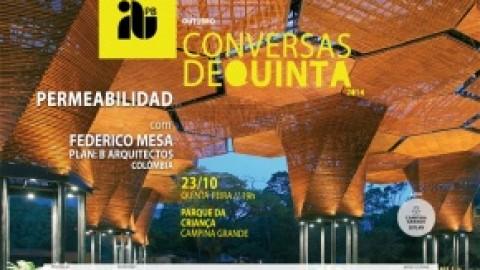 Arquiteto da Colômbia é o convidado do Conversas de Quinta, do IAB-PB