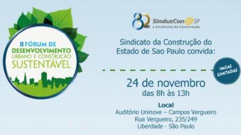 II Fórum de Desenvolvimento Urbano e Construção Sustentável