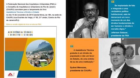 Lançamento do livro Assistência Técnica e Direito à Cidade