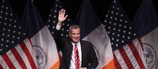 O prefeito de Nova York, Bill de Blasio - The New York Times