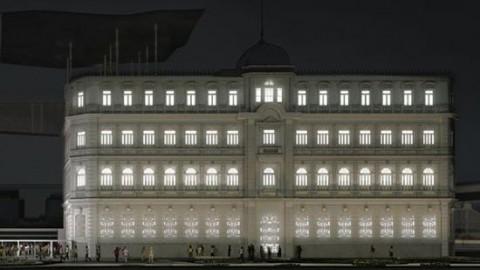 Pavilhão de exposições do Museu de Arte do Rio recebe instalação luminosa na fachada