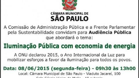 """Audiência Pública aborda o tema """"Iluminação Pública com economia de energia"""""""