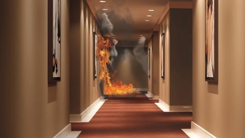 Tintas e portas especiais ajudam a prevenir incêndios