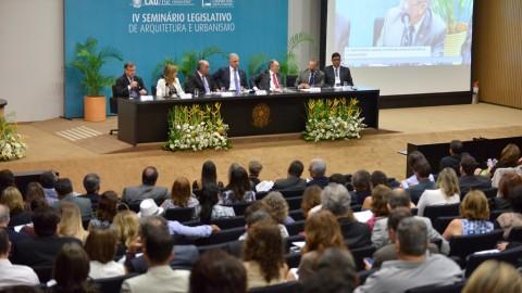 IV Seminário Legislativo do CAU/BR reuniu mais de 200 arquitetos e urbanistas