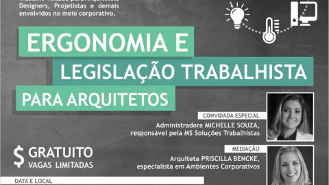 Curso de Ergonomia e Legislação Trabalhista para arquitetos